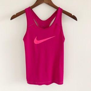 Girls' Nike Dri-Fit Swoosh Pink Tank Top Med